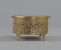 View Gold metal scrollwork jewelry box from Mae's Millinery Shop digital asset number 4