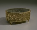 View Gold metal scrollwork jewelry box from Mae's Millinery Shop digital asset number 8