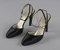 View Pair of black stiletto heel shoes by Charles Jourdan from Mae's Millinery Shop digital asset number 0