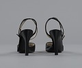 View Pair of black stiletto heel shoes by Charles Jourdan from Mae's Millinery Shop digital asset number 3