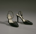 View Pair of black stiletto heel shoes by Charles Jourdan from Mae's Millinery Shop digital asset number 7