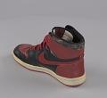 View Pair of red and black Air Jordan I high top sneakers made by Nike digital asset number 9