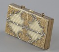 View Metal cosmetic case with rhinestones and beads from Mae's Millinery Shop digital asset number 0
