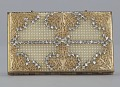 View Metal cosmetic case with rhinestones and beads from Mae's Millinery Shop digital asset number 8
