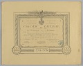 View Certificate for French Croix de Guerre medal issued to Cpl. Lawrence L. McVey digital asset number 0