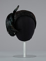 View Black hat with iridescent black feathers from Mae's Millinery Shop digital asset number 2