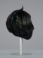 View Black hat with iridescent black feathers from Mae's Millinery Shop digital asset number 5