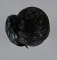 View Black hat with iridescent black feathers from Mae's Millinery Shop digital asset number 7