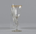 View Glass stemware with gold decoration from Mae's Millinery Shop digital asset number 4