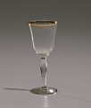 View Glass stemware with gold decoration from Mae's Millinery Shop digital asset number 7