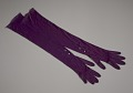 View Pair of arm length purple gloves from Mae's Millinery Shop digital asset number 1