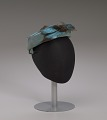 View Teal pillbox hat with bird decoration from Mae's Millinery Shop digital asset number 8