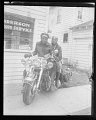 View Portrait of a couple on a motorcycle outside of Anderson Photo Service studio digital asset number 1