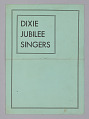 View Leaflet for the Dixie Jubilee Singers digital asset number 0