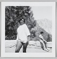 View Photographic print of an unidentified woman posing in front of a mountain digital asset number 0