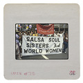 """View Photographic slide of marchers with """"Salsa Soul Sisters"""" banners digital asset number 1"""