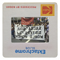 """View Photographic slide of marchers with """"Salsa Soul Sisters"""" banners digital asset number 2"""