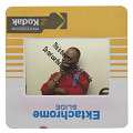 View Photographic slide of activist Joe Beam sitting against a white wall digital asset number 2