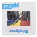 View Photographic slide of gay pride flag banner at a New York City Gay Pride March digital asset number 2