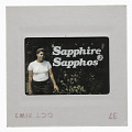 View Photographic slide of Tania Abdulahad with a Sapphire Sapphos banner digital asset number 1