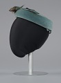 View Teal pillbox hat with bird decoration from Mae's Millinery Shop digital asset number 2