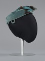 View Teal pillbox hat with bird decoration from Mae's Millinery Shop digital asset number 4