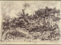 View Scroll of Aragon digital asset: Roll of sketches by Harvey Thomas Dunn, Panel 2, dead soldier