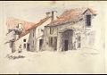 View Scroll of Aragon digital asset: Roll of sketches by Harvey Thomas Dunn, Panel 4, street scene
