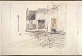 View Scroll of Aragon digital asset: Roll of sketches by Harvey Thomas Dunn, Panel 5, street scene