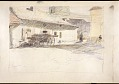 View Scroll of Aragon digital asset: Roll of sketches by Harvey Thomas Dunn, Panel 6, street scene