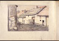 View Scroll of Aragon digital asset: Roll of sketches by Harvey Thomas Dunn, Panel 7, street scene