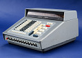 View Sharp Compet CS-10A Electronic Calculator digital asset: Sharp Compet CS-10A Desktop Electronic Calculator, Side Angle View