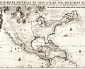 View Map of North and South America digital asset: Carte tres curieuse