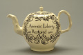 View No Stamp Act Teapot digital asset: Teapot with inscription, America: Liberty Restored