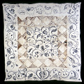 View 1790 - 1795 Martha Soule's Crewel Embroidered and Pieced Quilt digital asset number 0