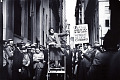 View Photographic History Collection: Carl Mydans digital asset: Pioneer organizer of the Office Workers' Union exhorts a crowd of sympathizers, Wall and Broad Sts., NYC