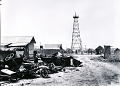 View Photographic History Collection: Carl Mydans digital asset: Main street in oil boom town of Freer