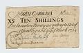 View 10 Shillings, North Carolina, 1754 digital asset: OBVERSE: North Carolina, 10 Shillings, 1754