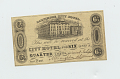 View 10,000 Mark Note, Bielefeld, Germany, 1923 digital asset: OBVERSE: Baltimore, Maryland, Baltimore City Hotel, 6 1/4 Cents