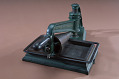View Lowe Press No. 2 press digital asset: Lowe Press, No. 2, patented 1856, view showing handle center left