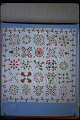 View 1840 - 1860 Sophia Denty's Floral Appliqued Quilt Top digital asset: Overall