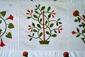 View 1840 - 1860 Sophia Denty's Floral Appliqued Quilt Top digital asset number 2