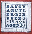 "View 1842 Nancy Ward Butler's ""Tombstone"" Quilt digital asset number 0"