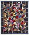 View 1897 - 1929 Edna Force Davis's Wool Crazy-patchwork Parlor Throw digital asset: Edna Force Davis' Wool Crazy Patchwork