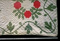 """View 1840 - 1850 Mary Ann Bishop's """"Wreath of Roses"""" Appliqued Quilt digital asset number 1"""