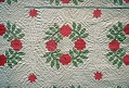 """View 1840 - 1850 Mary Ann Bishop's """"Wreath of Roses"""" Appliqued Quilt digital asset number 2"""