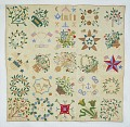 View 1867 Susan Rogers's Family Album Quilt digital asset: Overall