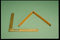 View Case of Mismatched Drawing Instruments digital asset: Square and Four-fold Rule from Set of Drawing Instruments