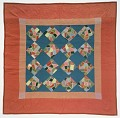 "View 1900 - 1925 Amish ""Crazy-patch Block"" Quilt digital asset: Overall"
