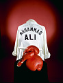 View Boxing Robe worn by Muhammad Ali digital asset: Muhammad Ali robe and gloves